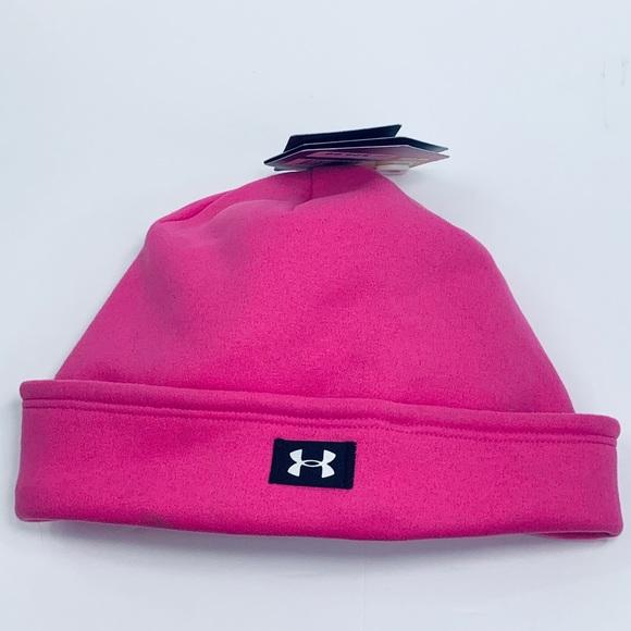 NWT Under Armour Hot Pink Beanie Hat 973e8e0211b